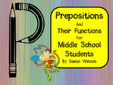 Prepositions and Their Functions for Middle School Students