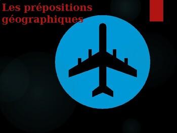 Prépositions avec la géographie power point speaking activity