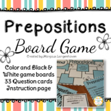 Prepositions board game