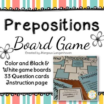 Prepositions board game
