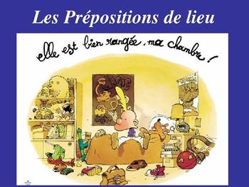 French  Prepositions place  de lieu devant  derriere sur