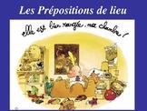 French  Prepositions place  de lieu devant  derriere sur  sous ...38 slides!
