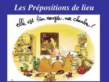 French  Prepositions place  de lieu devant  derriere sur  sous ...38 slides!