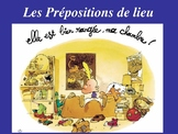 French  Prepositions place  de lieu devant  derriere sur