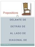 Prepositions (delante de, detrás de, al lado de, diagonal de)