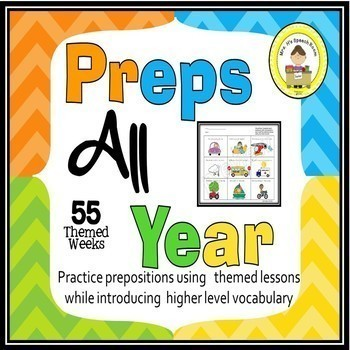Prepositions for All Year in Speech Therapy Bundle