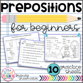 Prepositions for Beginners Practice Sheets