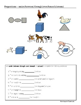 Prepositions for ELL Students