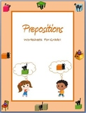Prepositions - Worksheets for Grade I