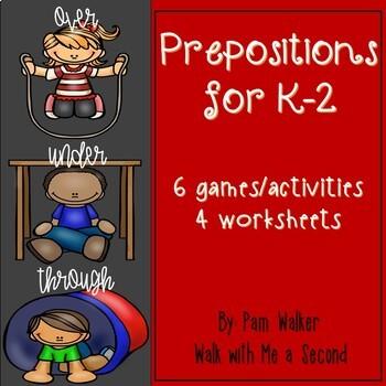 Prepositions for K - 2nd Grade
