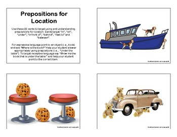 Prepositions for Location Cards