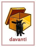 Preposizioni (Prepositions in Italian) Posters