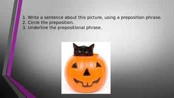 Prepositions in Sentences
