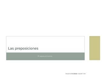 Prepositions in Spanish