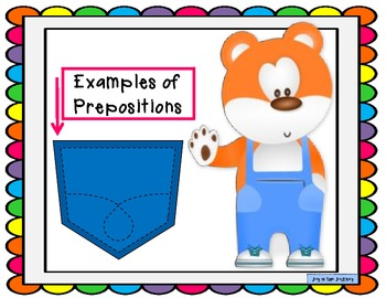 """Prepositions in my Pocket"" 3-set Activity Pack"