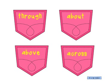 """""""Prepositions in my Pocket"""" 3-set Activity Pack"""