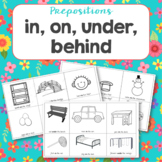 Prepositions: in, on, under and behind