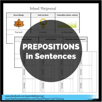 Prepositions (in Sentences)