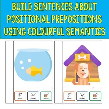 Prepositions interactive book - colorful semantics