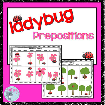 Prepositions for speech therapy  in on under next to above behind front  between