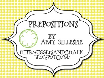 Prepositions: master/student list freebie