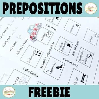 FREEBIE Prepositions of Location Activity