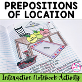 Spanish Interactive Notebook Activity:  Prepositions of Location