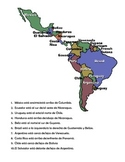 Prepositions of Location Practice: South America
