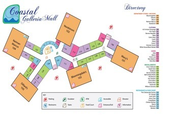 Prepositions of Location Practice with a Mall Map