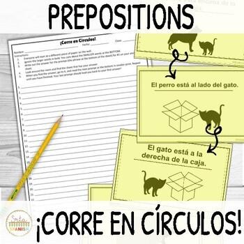 Prepositions of Location in Spanish ¡Corre en Círculos!