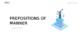 Prepositions of Manner Powerpoint