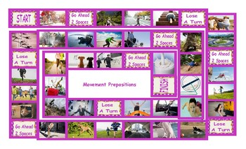 Prepositions of Movement Board Game
