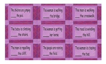 Prepositions of Movement Cards