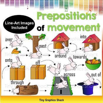 Prepositions of Movement Clip Art