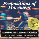 Prepositions of Movement: Worksheet & Activities for ESL t