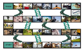 Movement Prepositions Legal Size Photo Chutes and Ladders Game