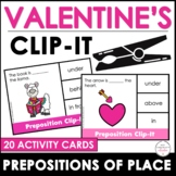 Prepositions of Place Card Match - Valentine's Day Theme