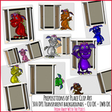 Prepositions of Place Clip Art Monsters - Now With Blacklines/Digital Stamps!