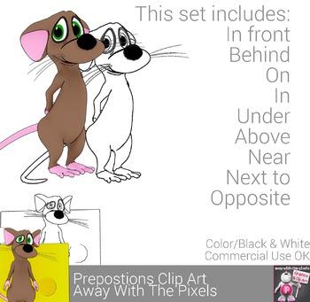 Prepositions of Place Clip Art - Grammar Clipart