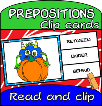 Prepositions of Place Clip Cards