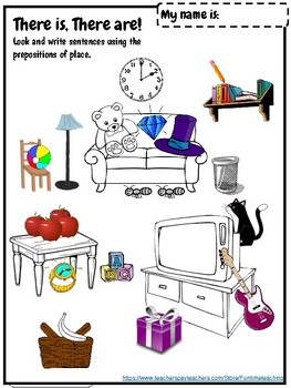 Prepositions of Place ESL Worksheets