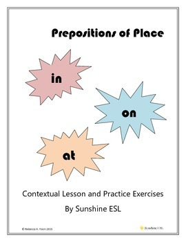 Prepositions of Place: IN, ON, AT