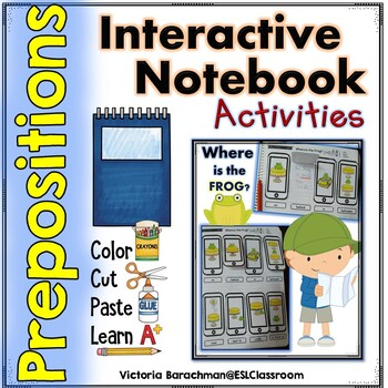 ⭐Prepositions of Place - Interactive Notebook FUN⭐