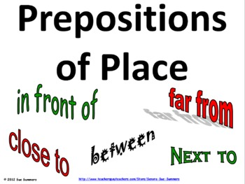 Prepositions of Place Signs and PowerPoint Presentation
