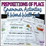 Prepositions of Place Grammar Activities and Word Wall Set