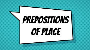 """Prepositions of Place (""""in,"""" """"at,"""" and """"on"""") Presentation"""