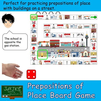 Prepositions of Place with Buildings Board Game