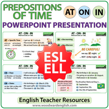 Prepositions of Time: AT ON IN - PowerPoint Presentation