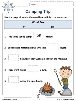 Prepositions of Time Workbook