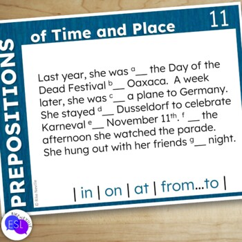 Prepositions of Time and Place for Adult ESL